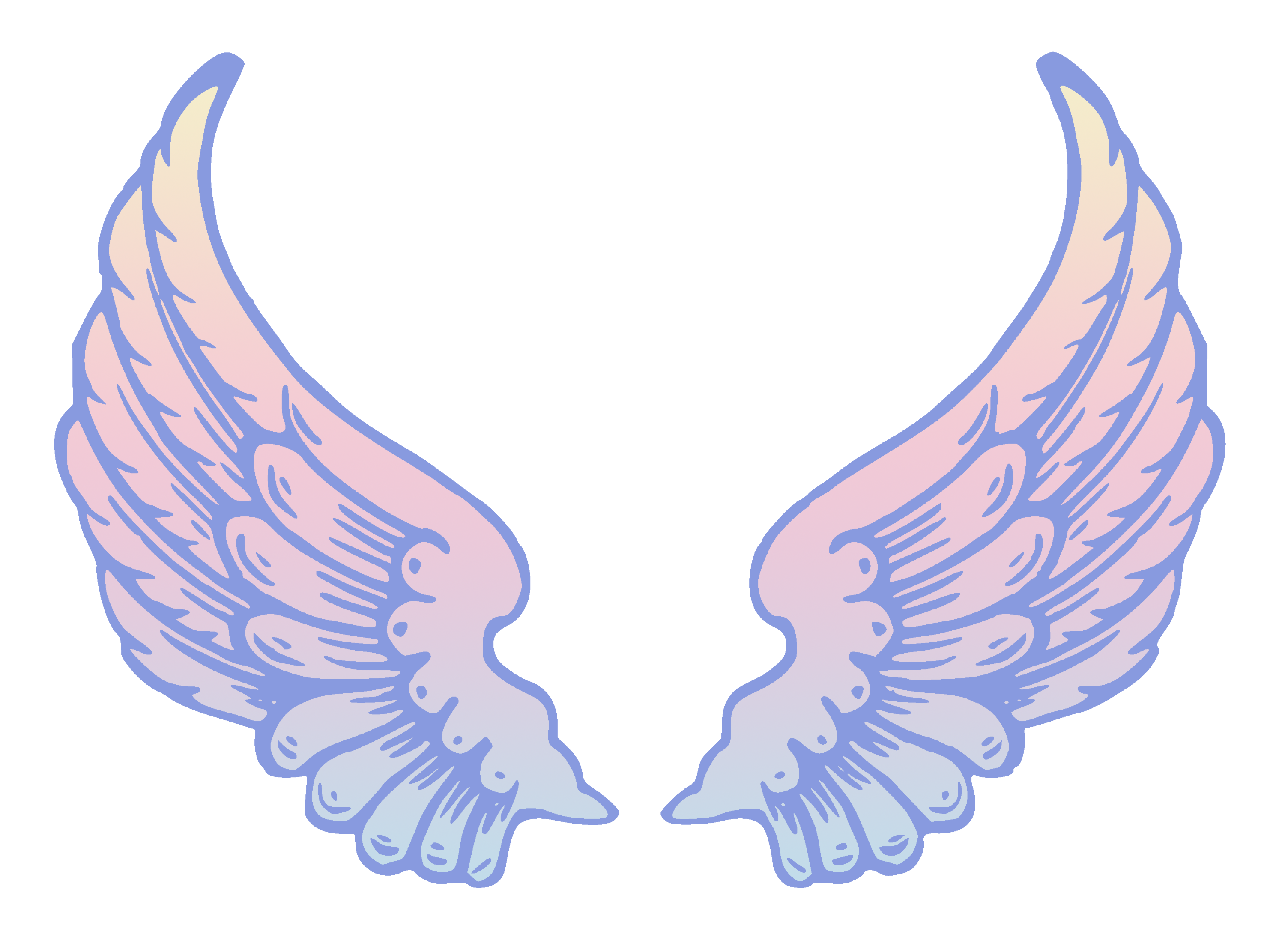 public domain pastel angel wings free clip art rh sweetclipart com angel wing patterns clipart angel wings clip art images
