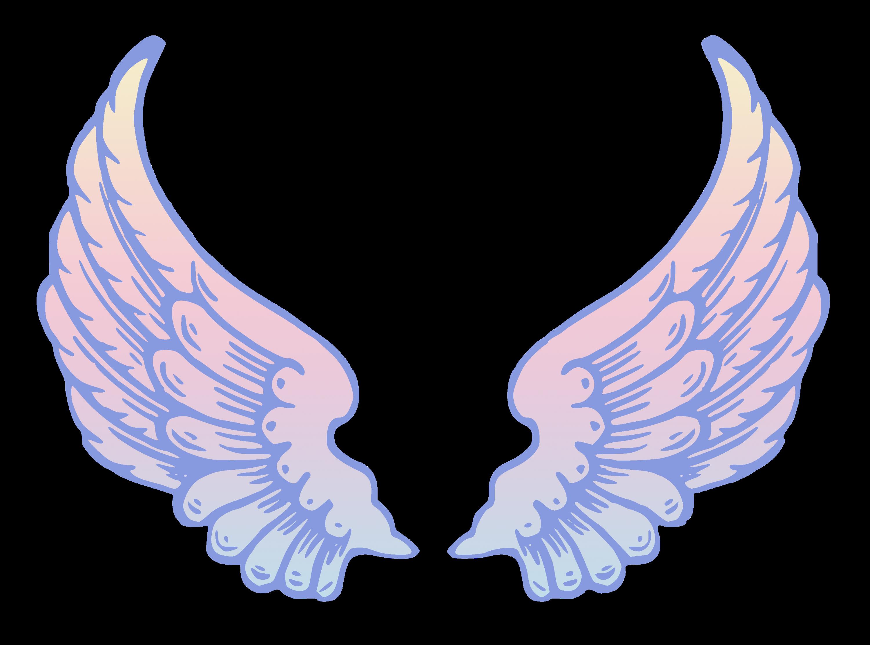 public domain pastel angel wings free clip art rh sweetclipart com angel wings silhouette clipart simple angel wings clipart