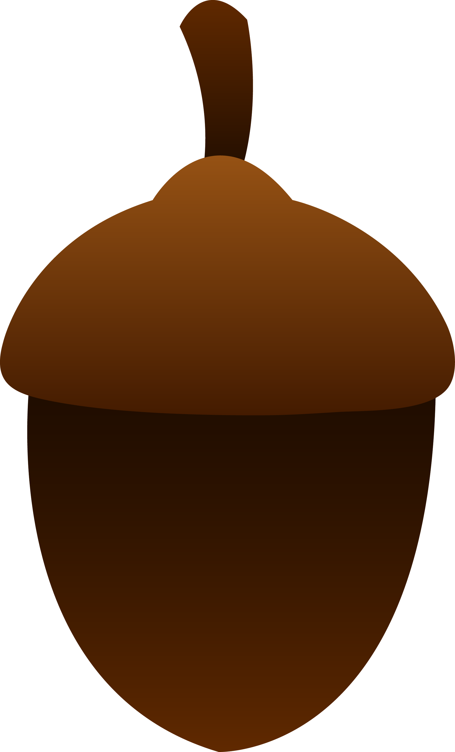 Simple Brown Acorn - Free Clip Art-8807