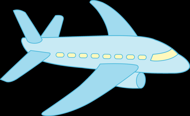 Little Blue Airplane Free Clip Art