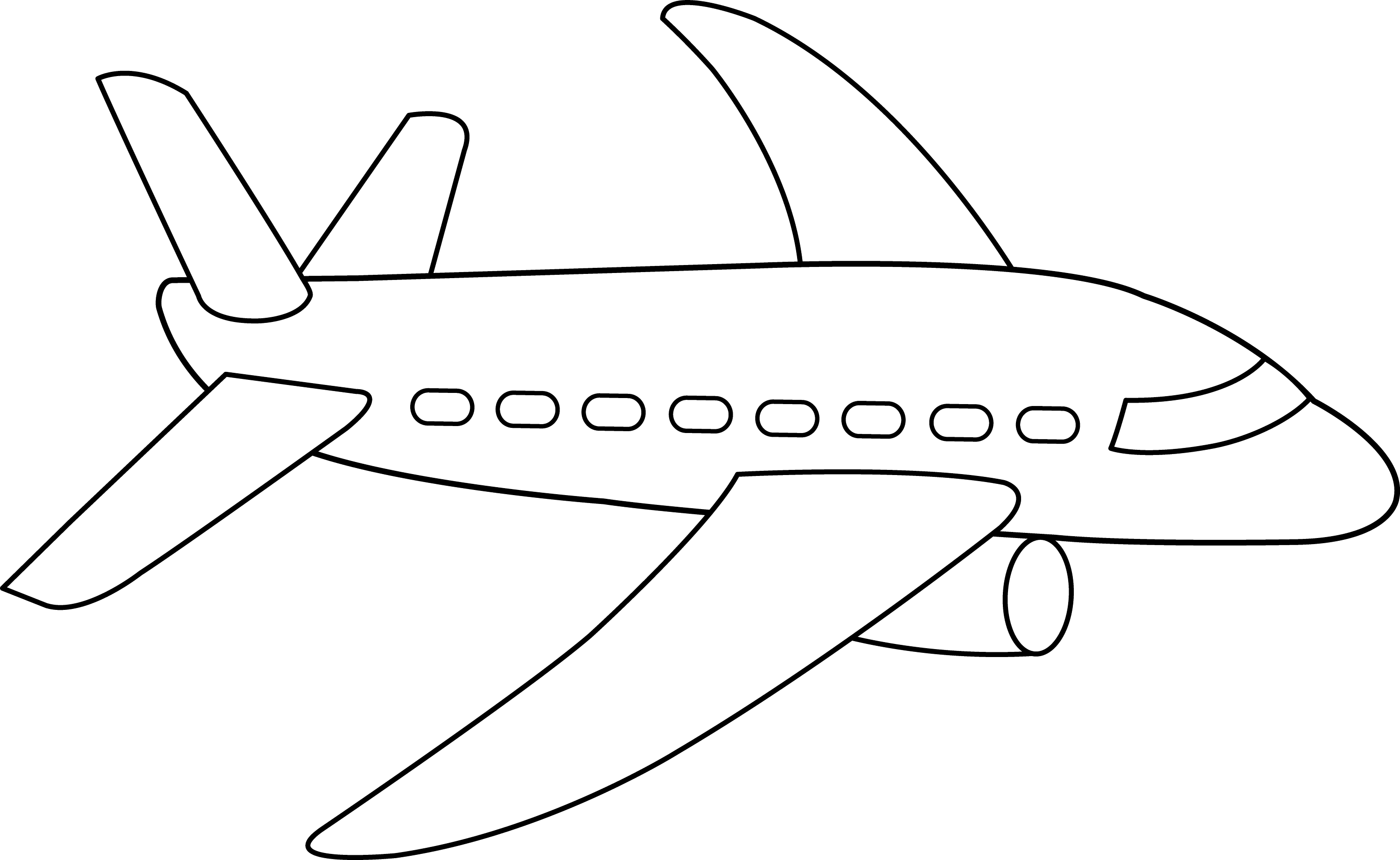 Airplane Coloring Page - Free Clip Art