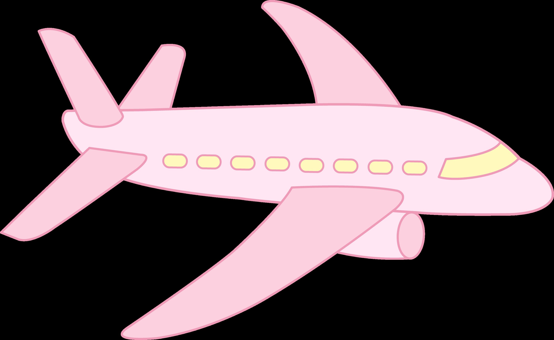 Airplane pink. Cute free clip art
