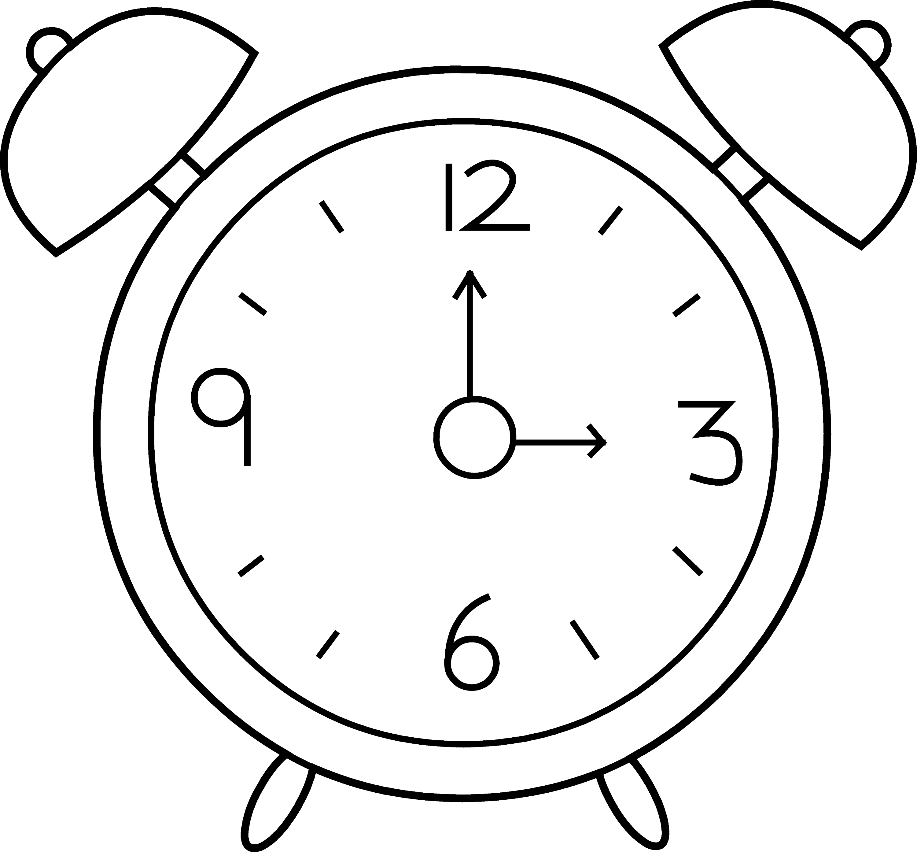 clock clipart black and white free - photo #14