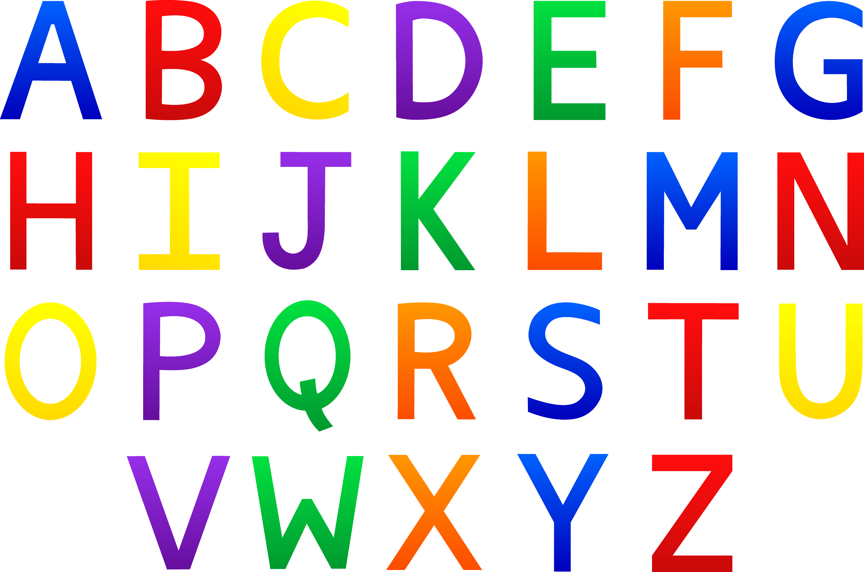 Colorful Alphabet Set Free Clip Art