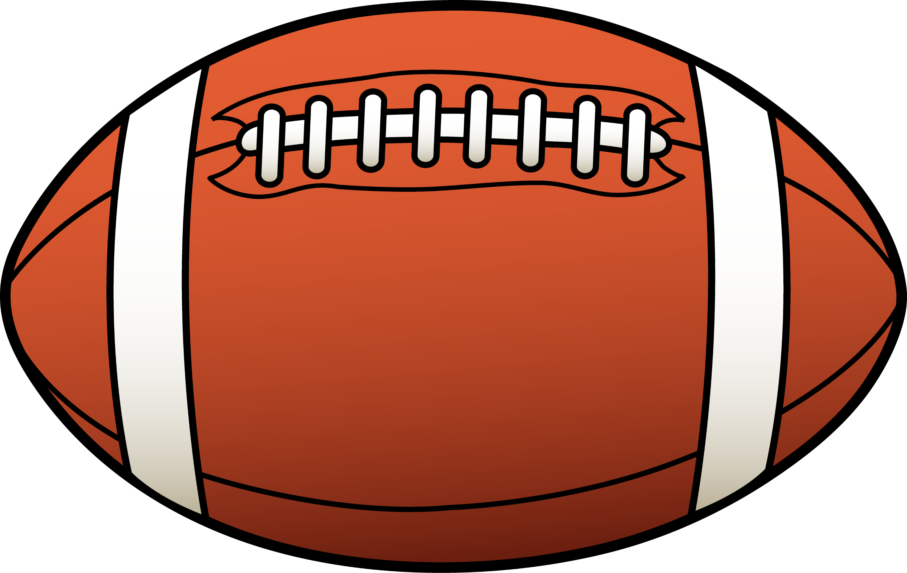 rugby ball or american football free clip art