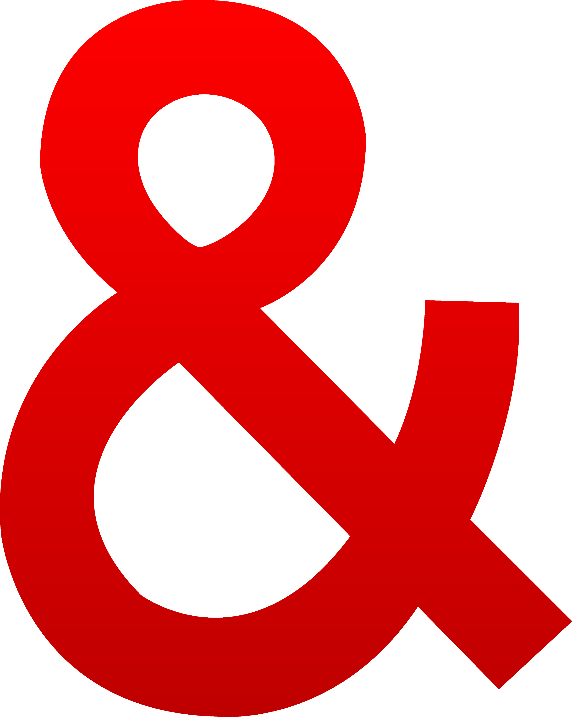 Red Ampersand Symbol - Free Clip Art