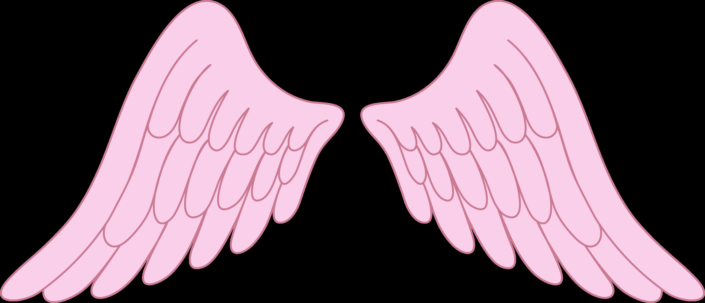 Angel Wings Baby Art Pink