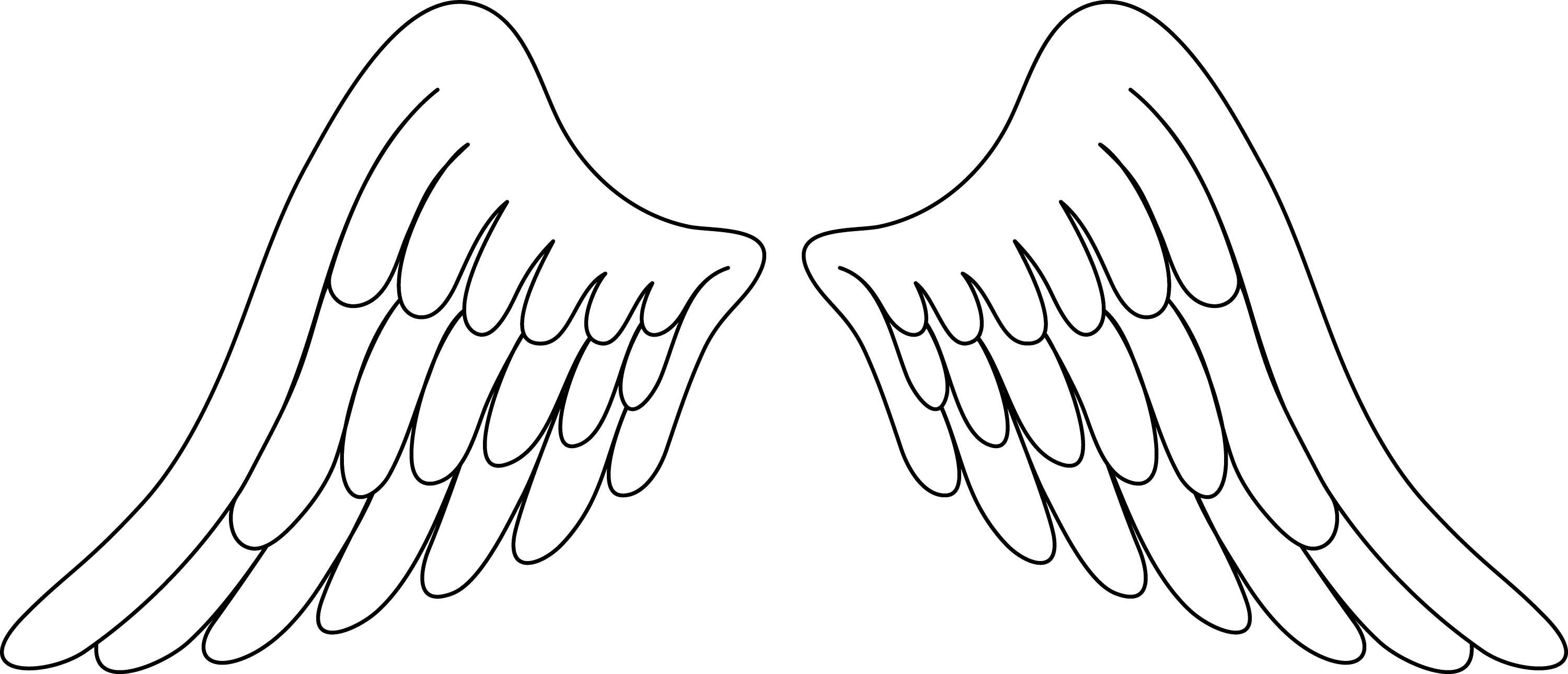 Pair of White Angel Wings