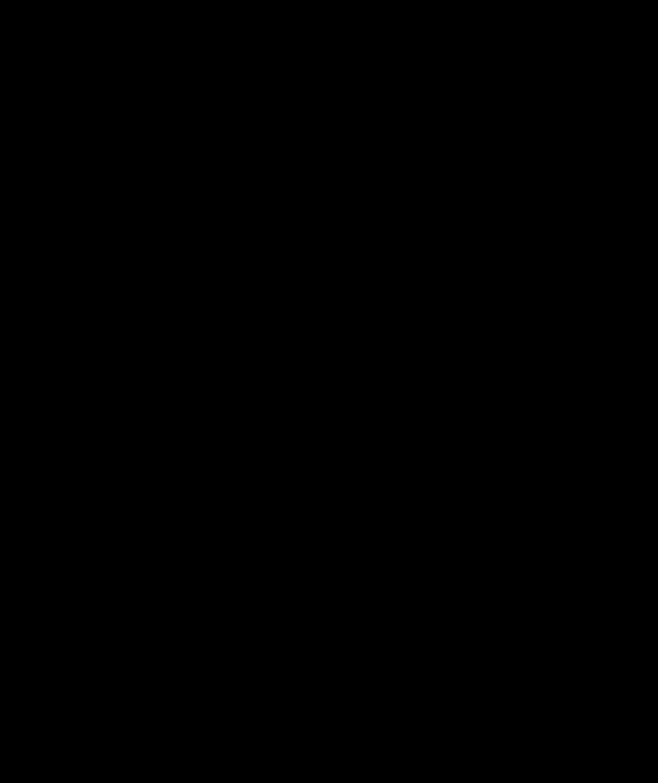 black apple silhouette vector - free clip art