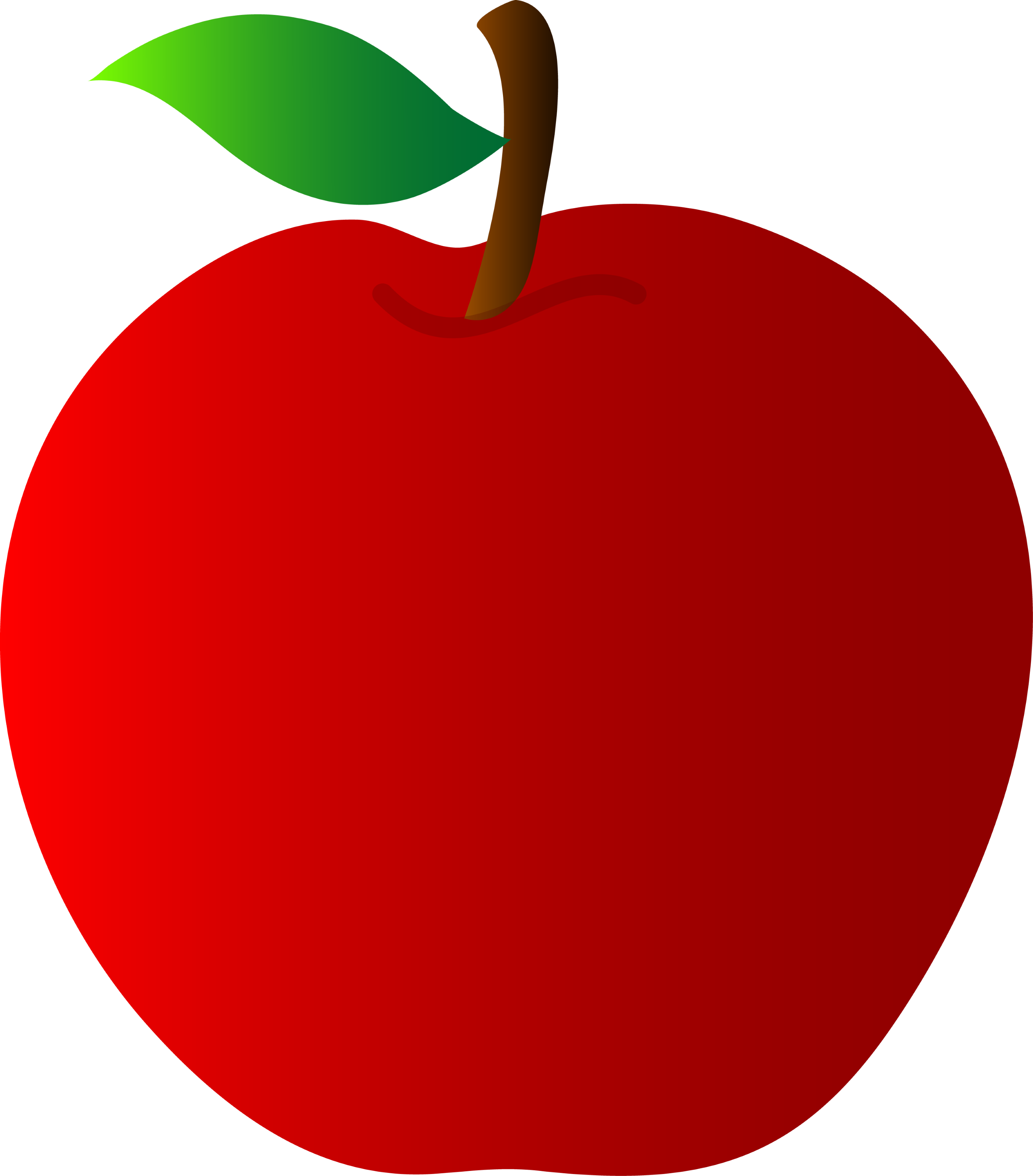 Apple vector. Red art free clip
