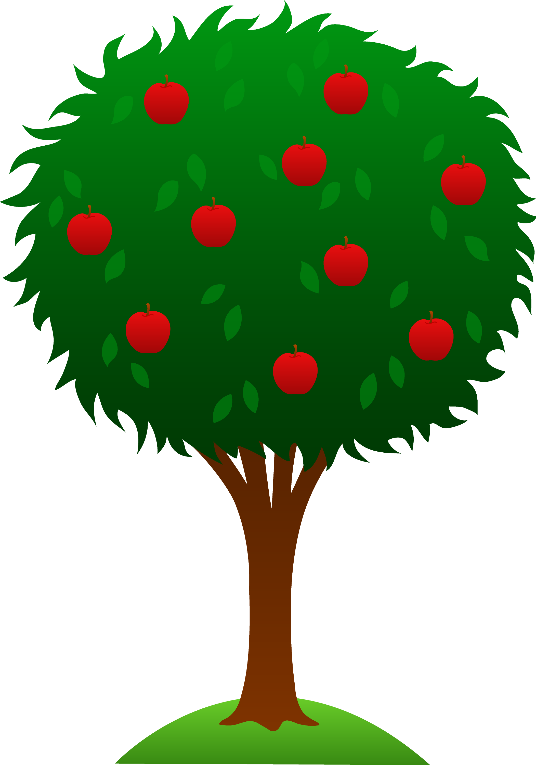 apple tree design free clip art rh sweetclipart com apple tree clipart clip art apple tree outline