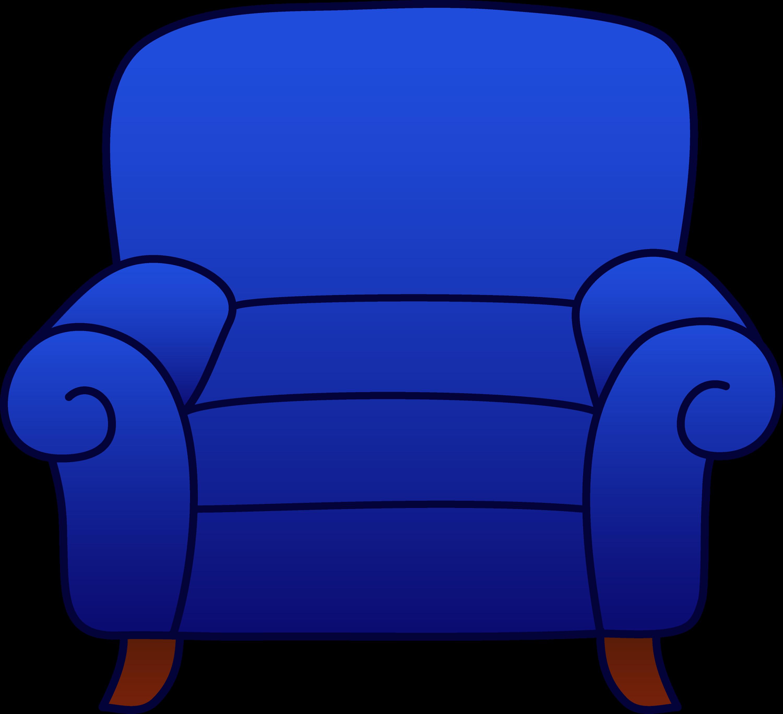 Blue Armchair Clipart - Free Clip Art