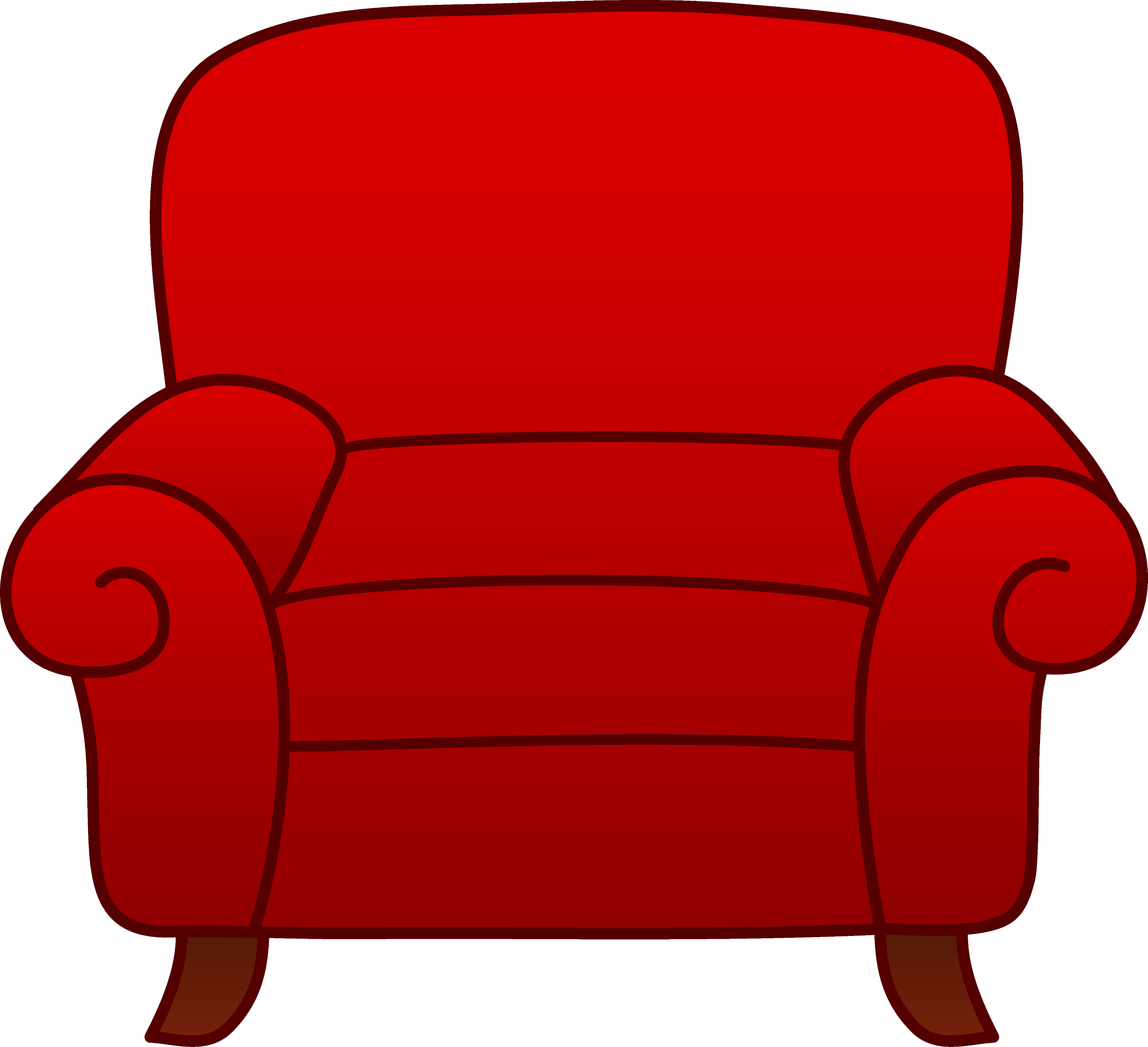 Red Armchair Clipart Free Clip Art