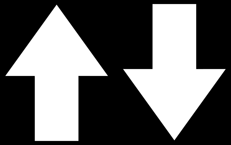 Arrow Symbols Line Art - Free Clip Art