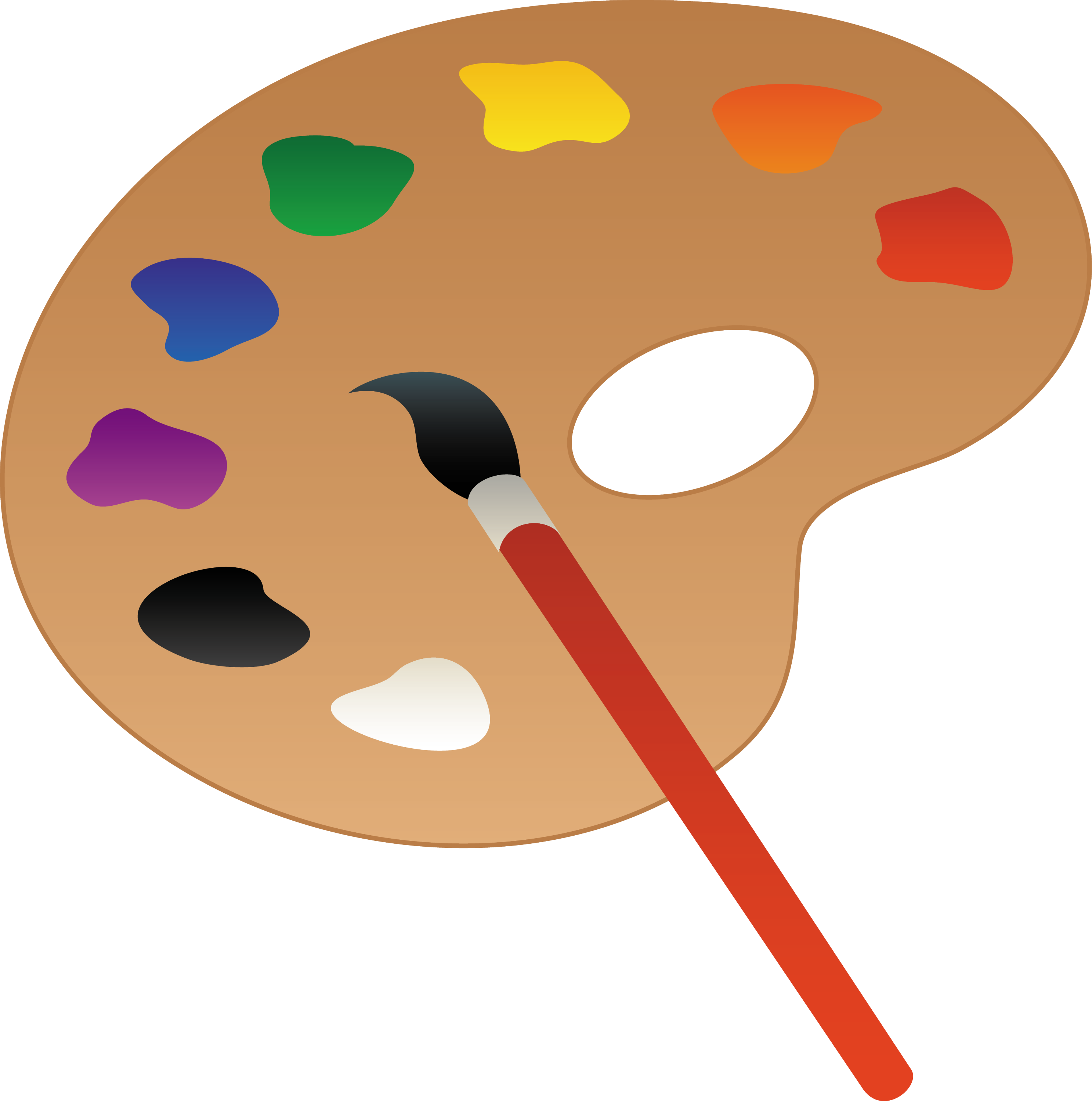 Artists Palette and Paint Brush