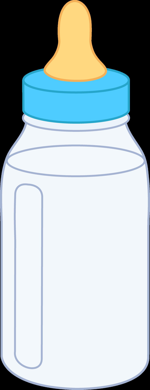 Blue Baby Bottle - Free Clip Art
