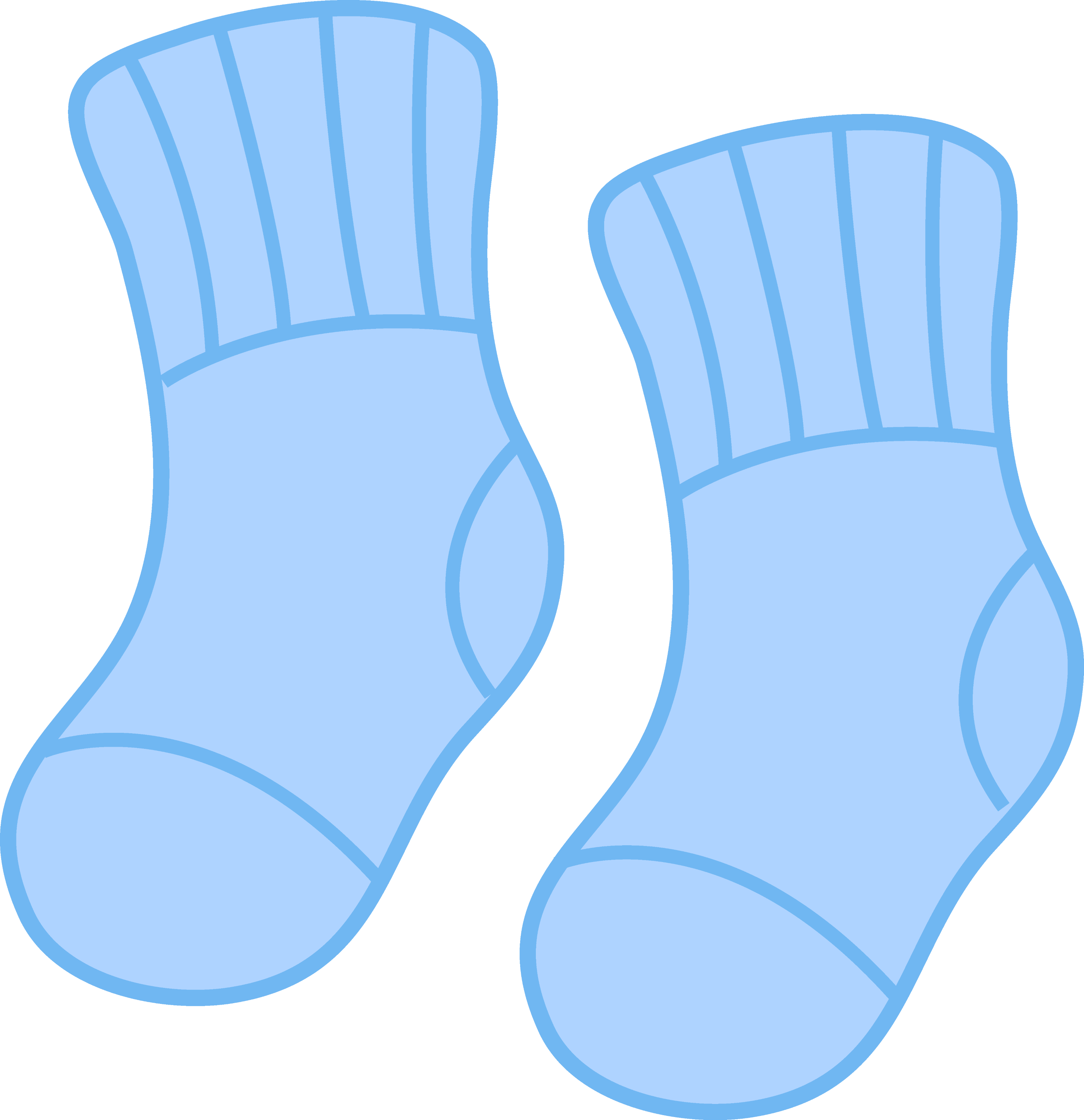 Baby Boy Blue Socks - Free Clip Art