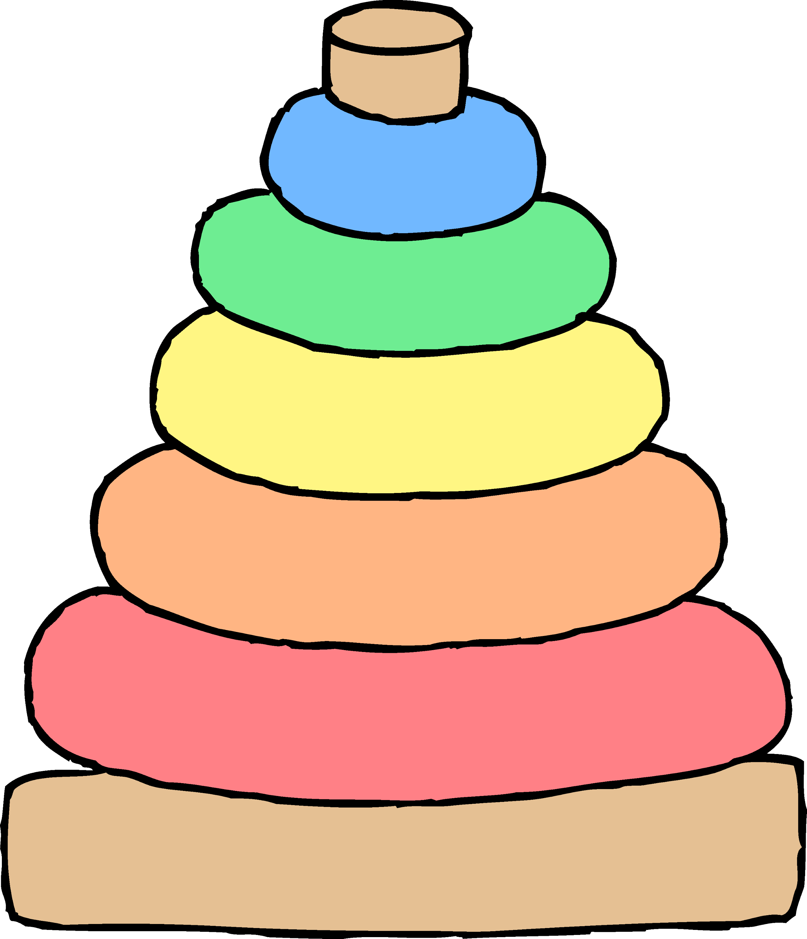 Cartoon Baby Toys : Baby stacking toy clipart free clip art