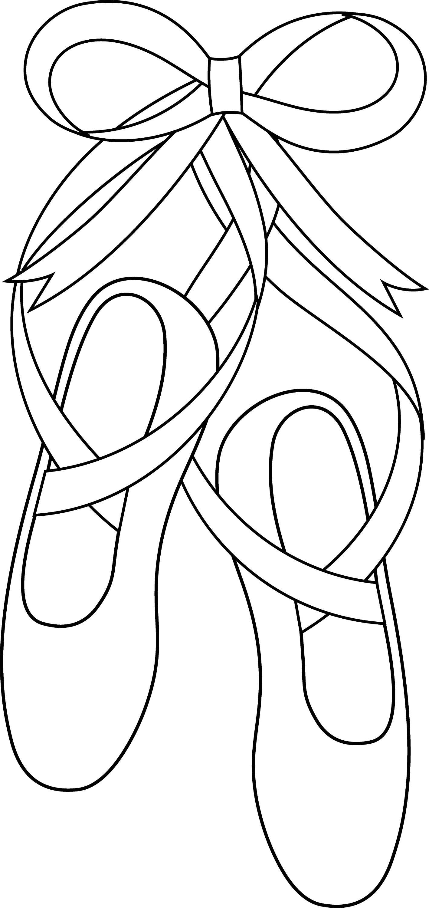 ballerina shoes coloring pages - photo#3