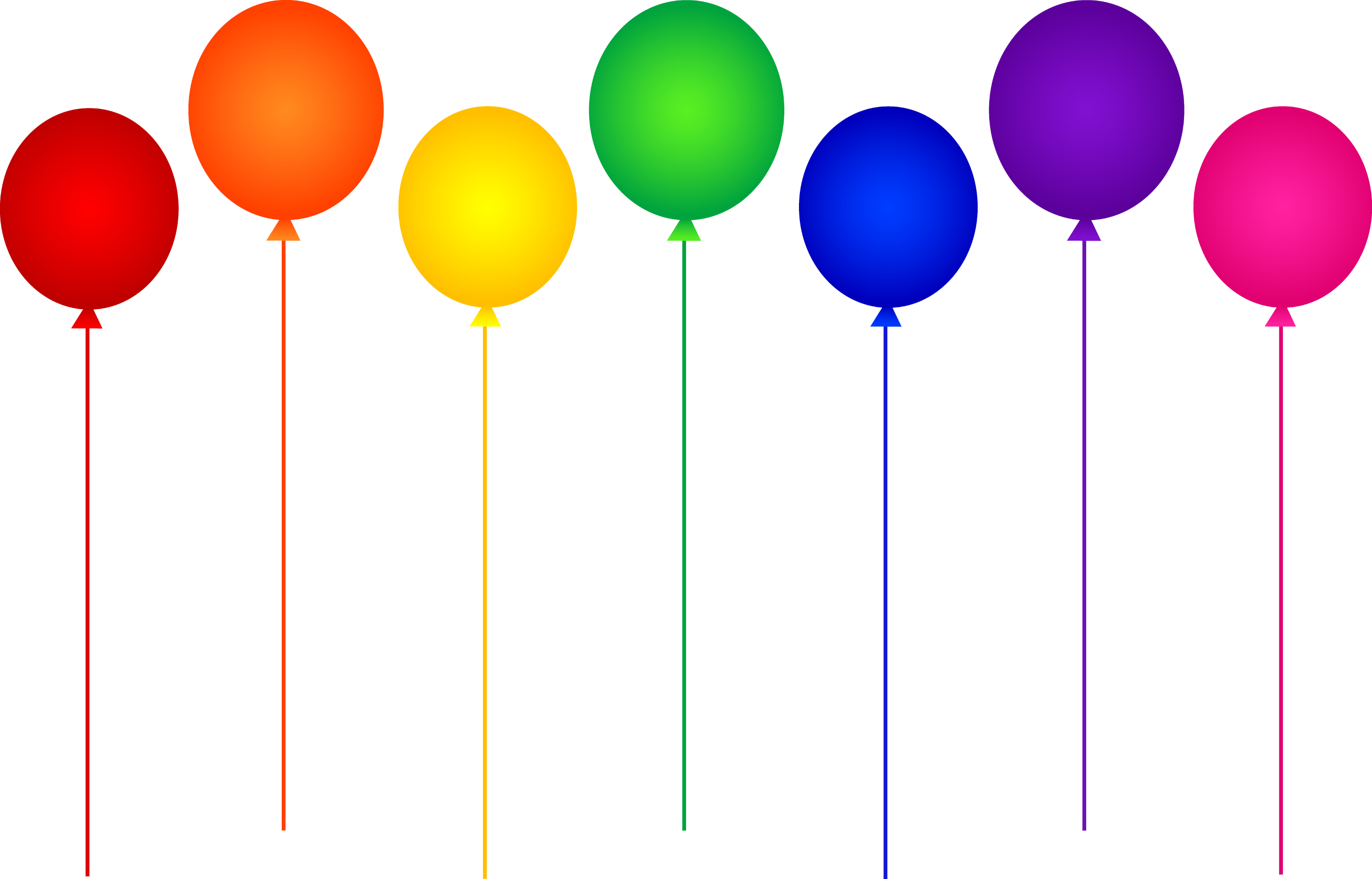 Balloons colorful. Seven rainbow birthday party