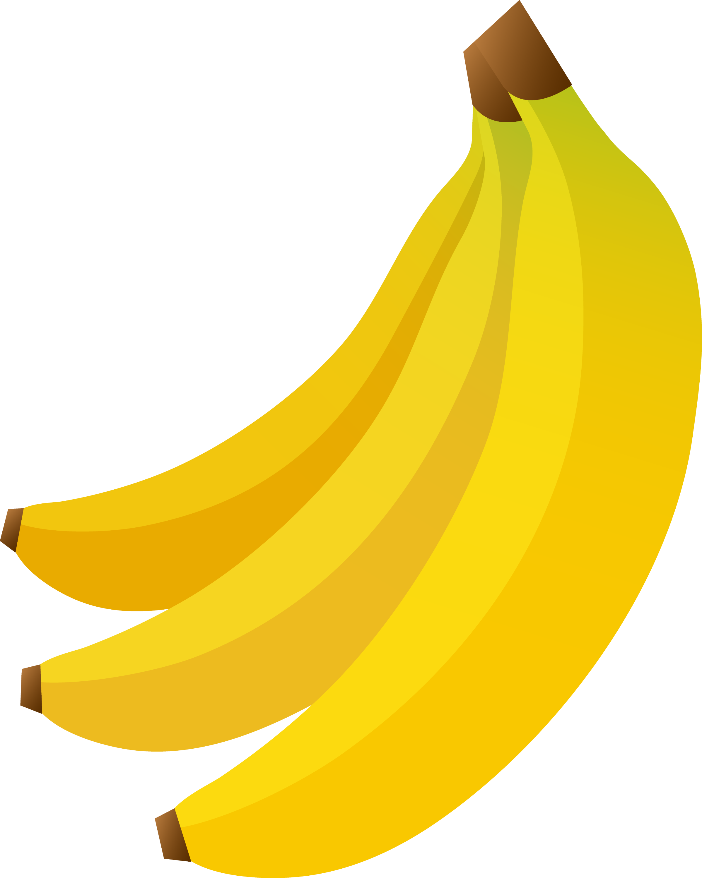 bunch of three bananas free clip art rh sweetclipart com free banana clipart black and white Banana Peel Clip Art