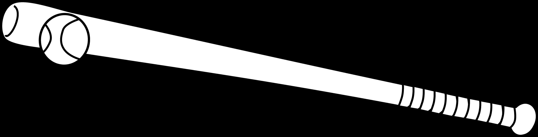 baseball bat coloring pages - baseball bat and ball black and white