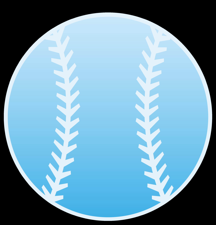 Blue Baseball Design - Free Clip Art