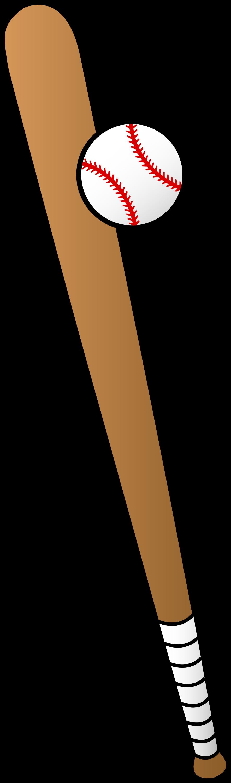 Vector Art of Baseball and Bat - Free Clip Art