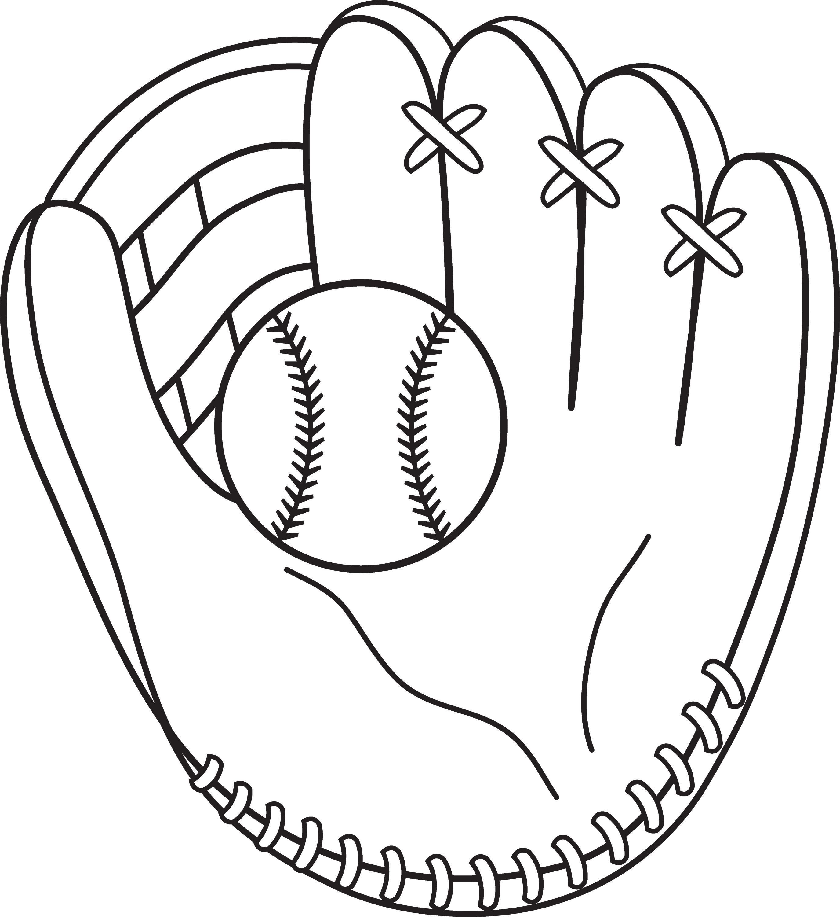 baseball mitt coloring page colorable baseball and mitt free clip art