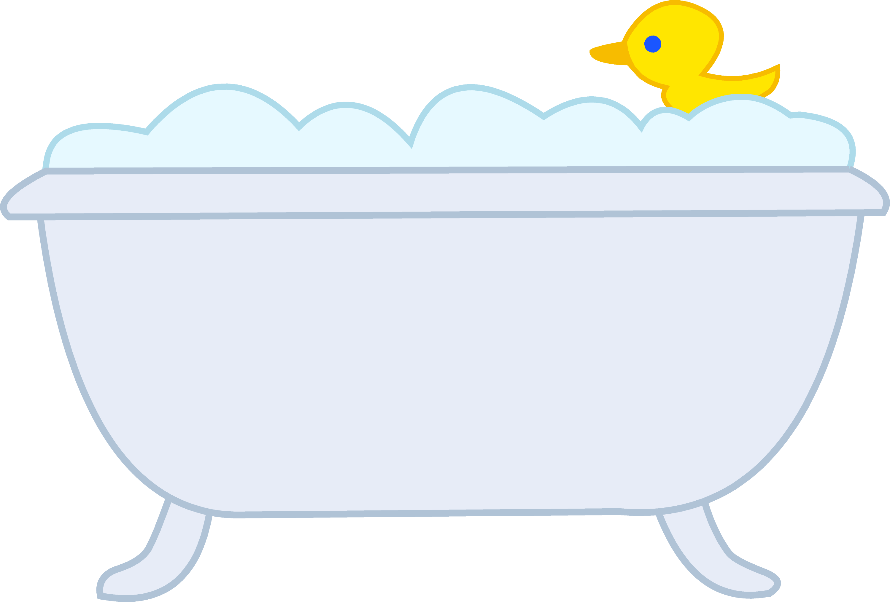 Bubble Bath With Rubber Ducky - Free Clip Art