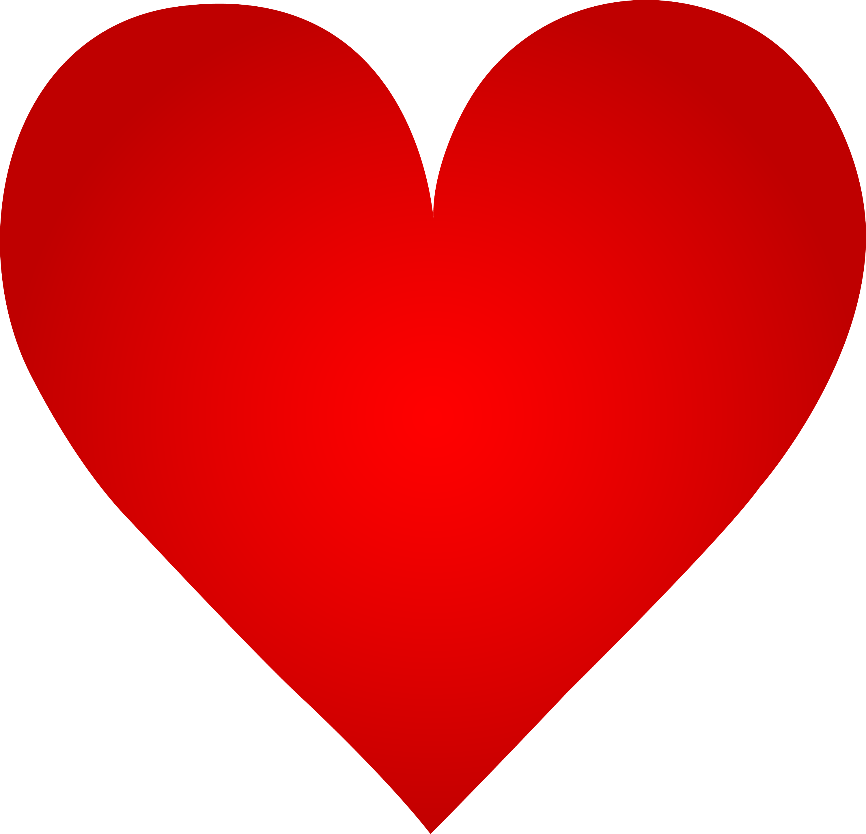 Big Red Heart - Free Clip Art