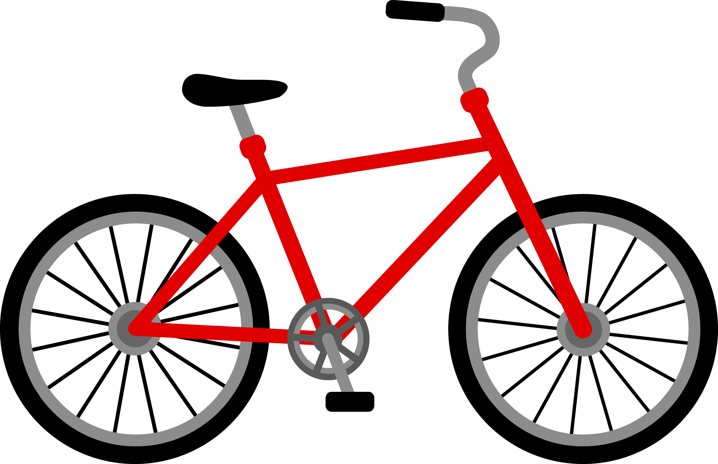 Red Bicycle Design  Free Clip Art