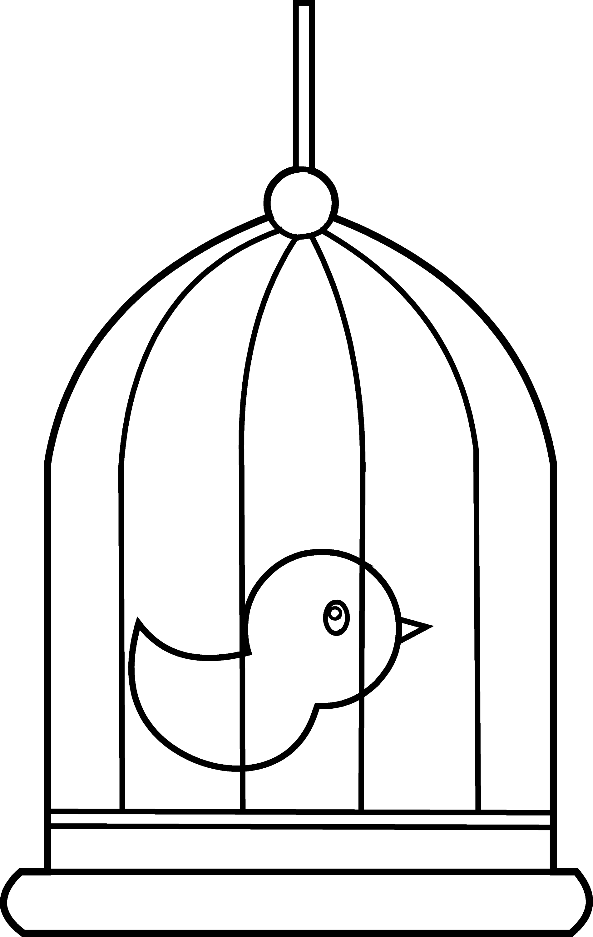 bird cage coloring pages - photo#2