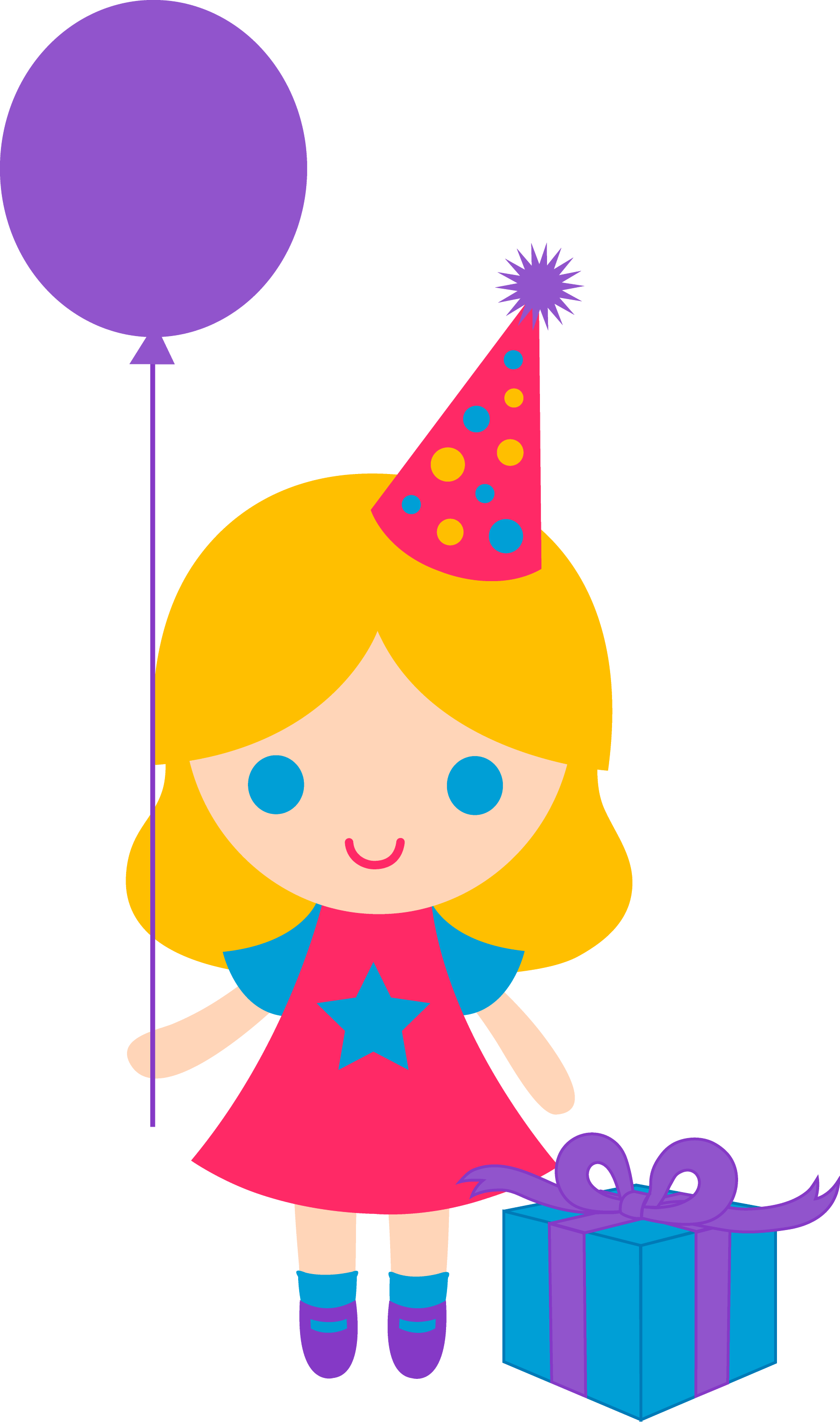 Little Birthday Girl Clip Art Free Clip Art