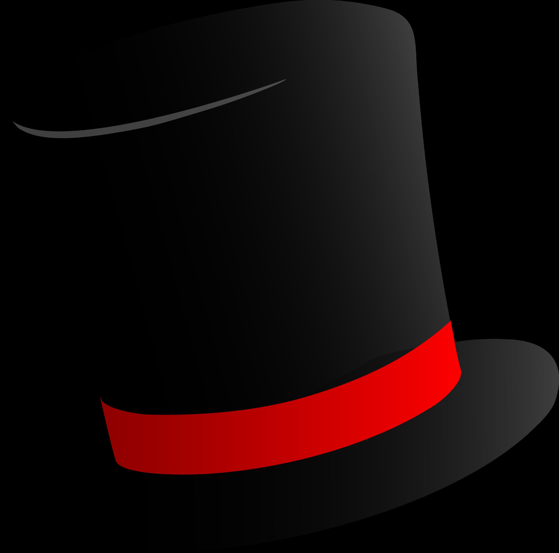 Black Top Hat Design Free Clip Art