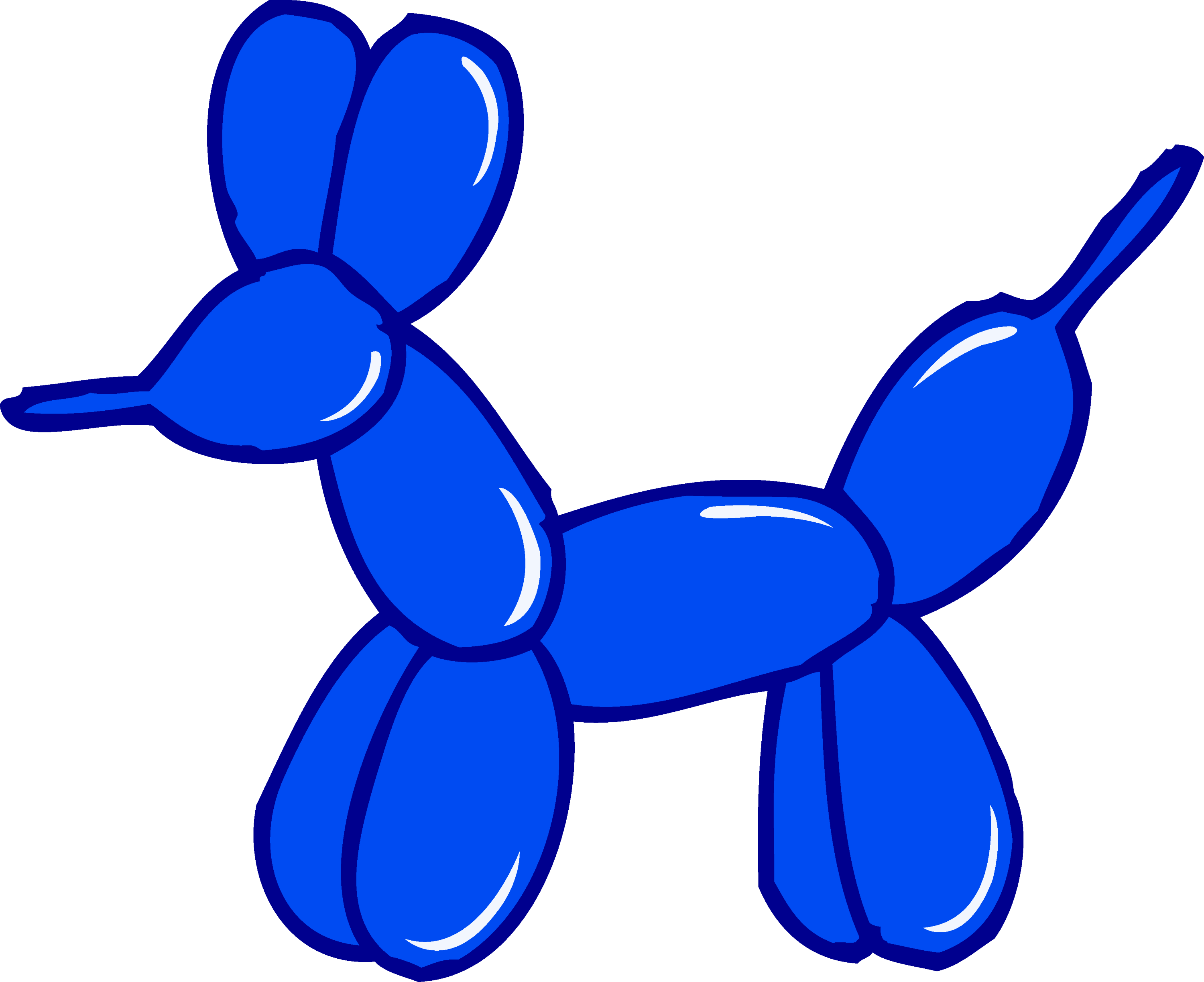 cute blue balloon animal free clip art rh sweetclipart com animals clipart black and white animals clipart black and white