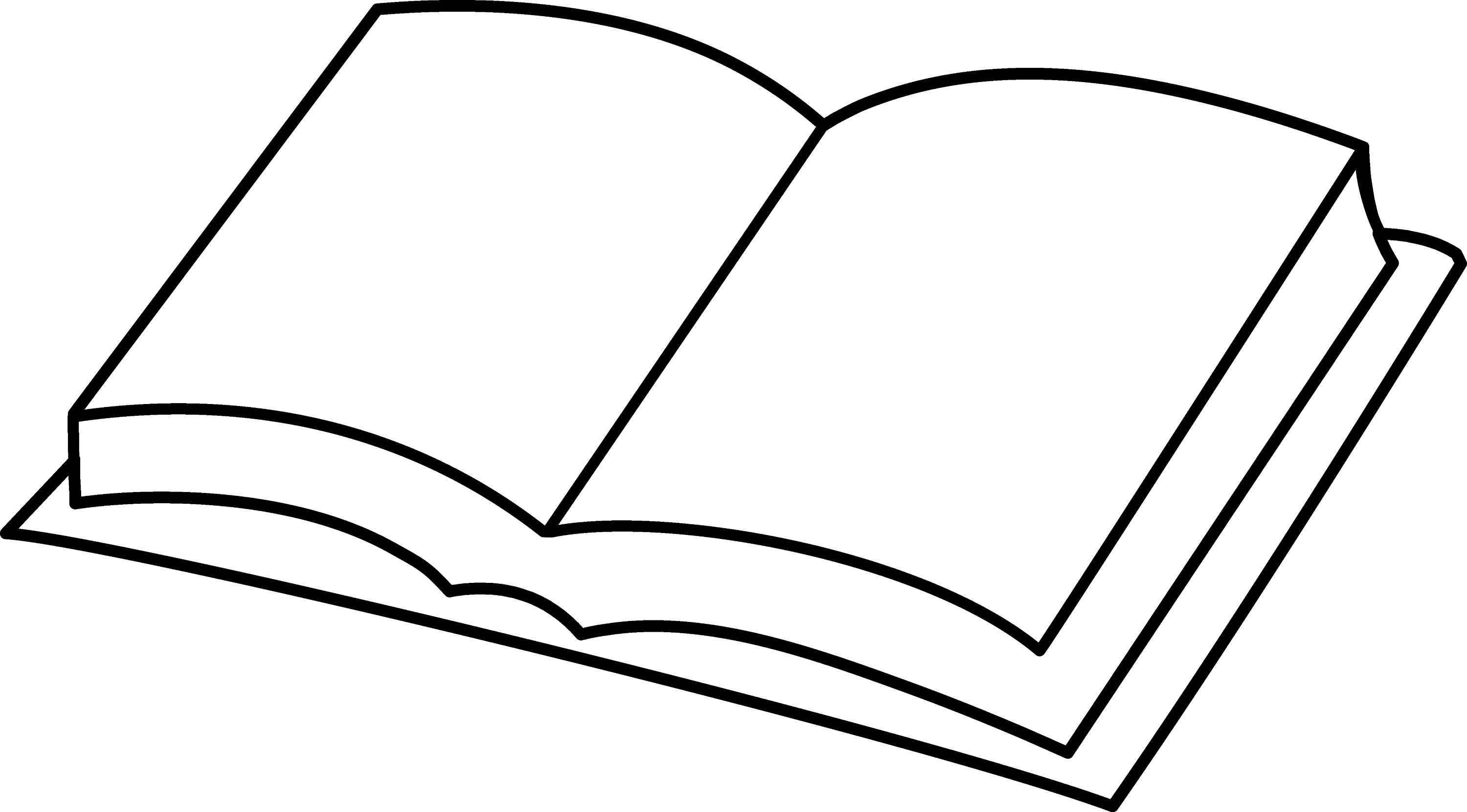 Open books coloring pages ~ Blank Book Coloring Page - Free Clip Art