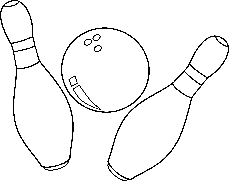 Bowling pin coloring page