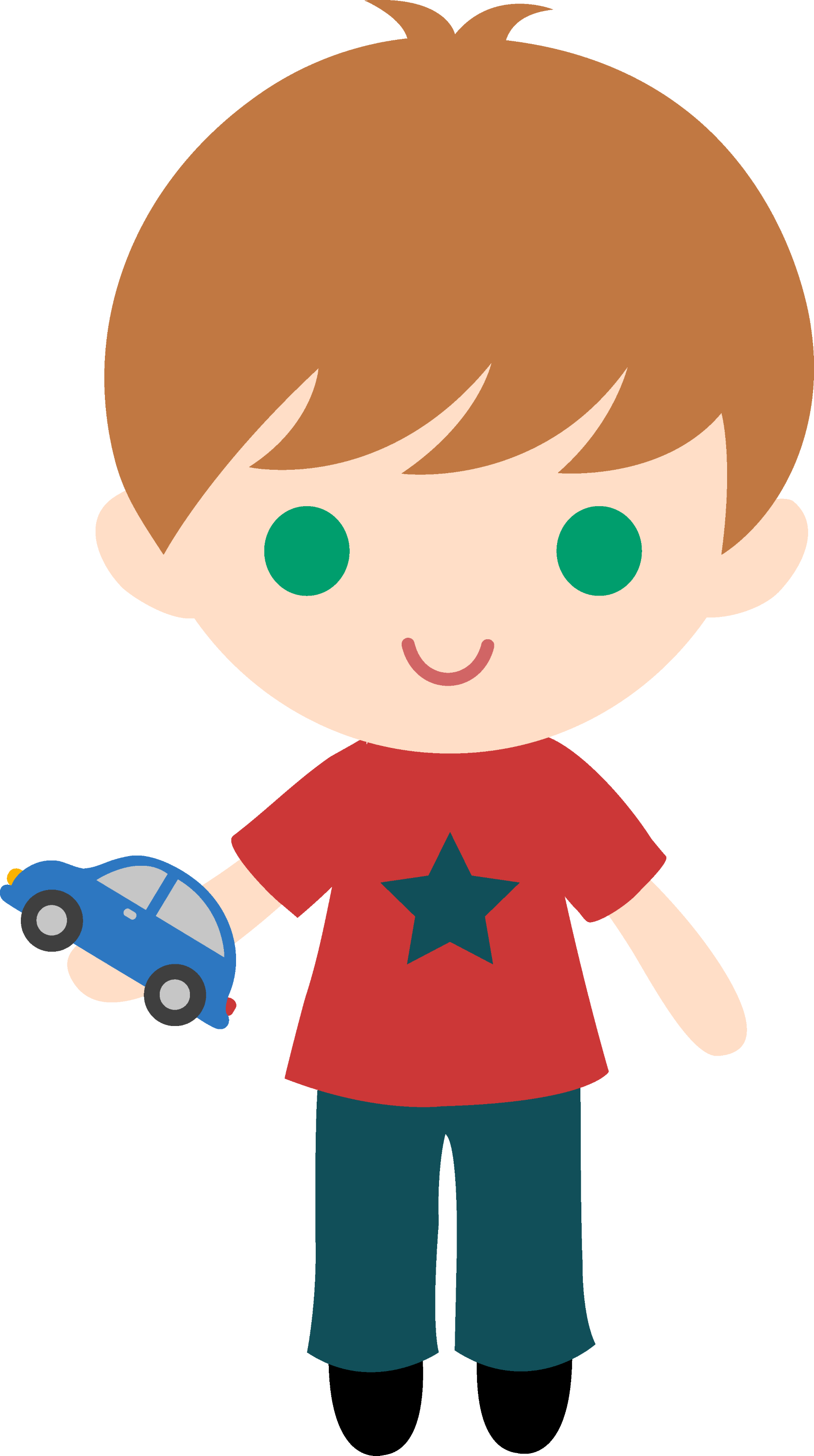 Boy With Toy Car Clipart - By Liz - Free Clip Art