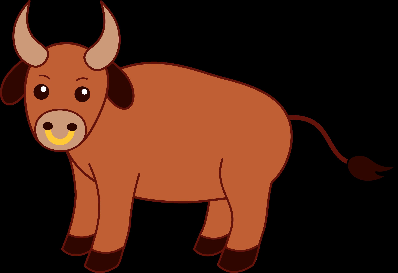 cute brown bull free clip art bull clipart vector bully clipart