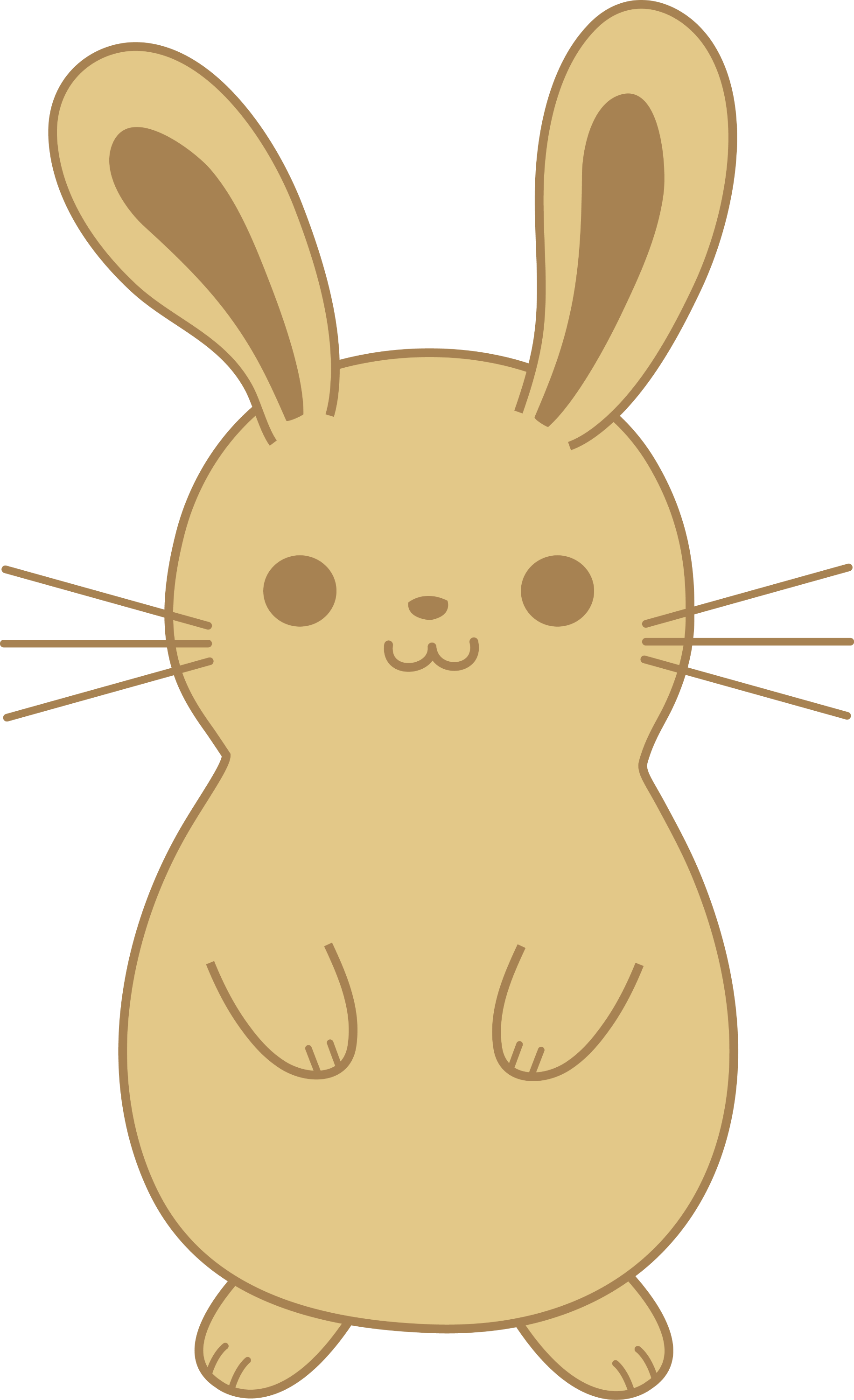 Cute brown bunny rabbit free clip art cute light brown rabbit voltagebd Images