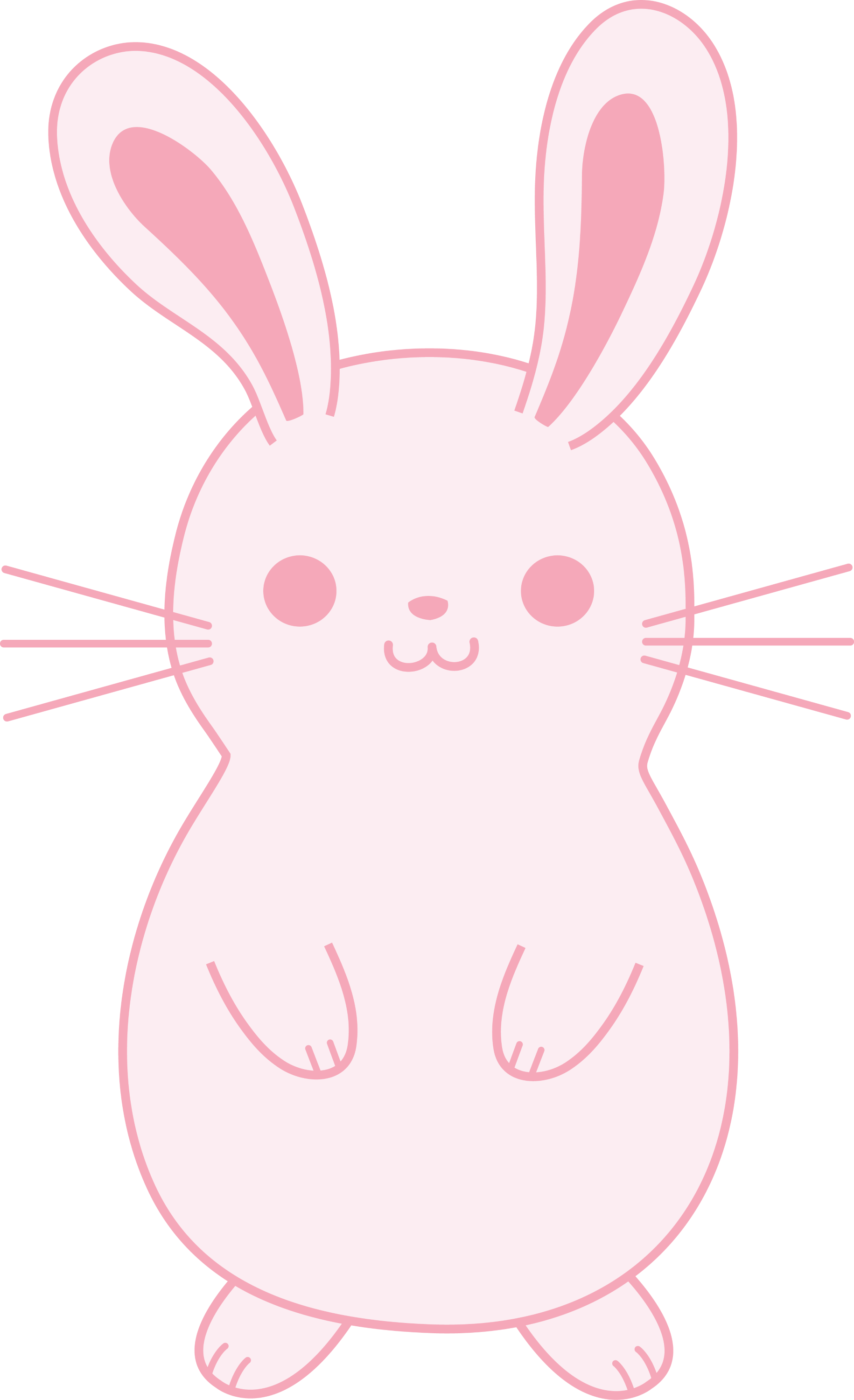 how to draw a cute fluffy bunny