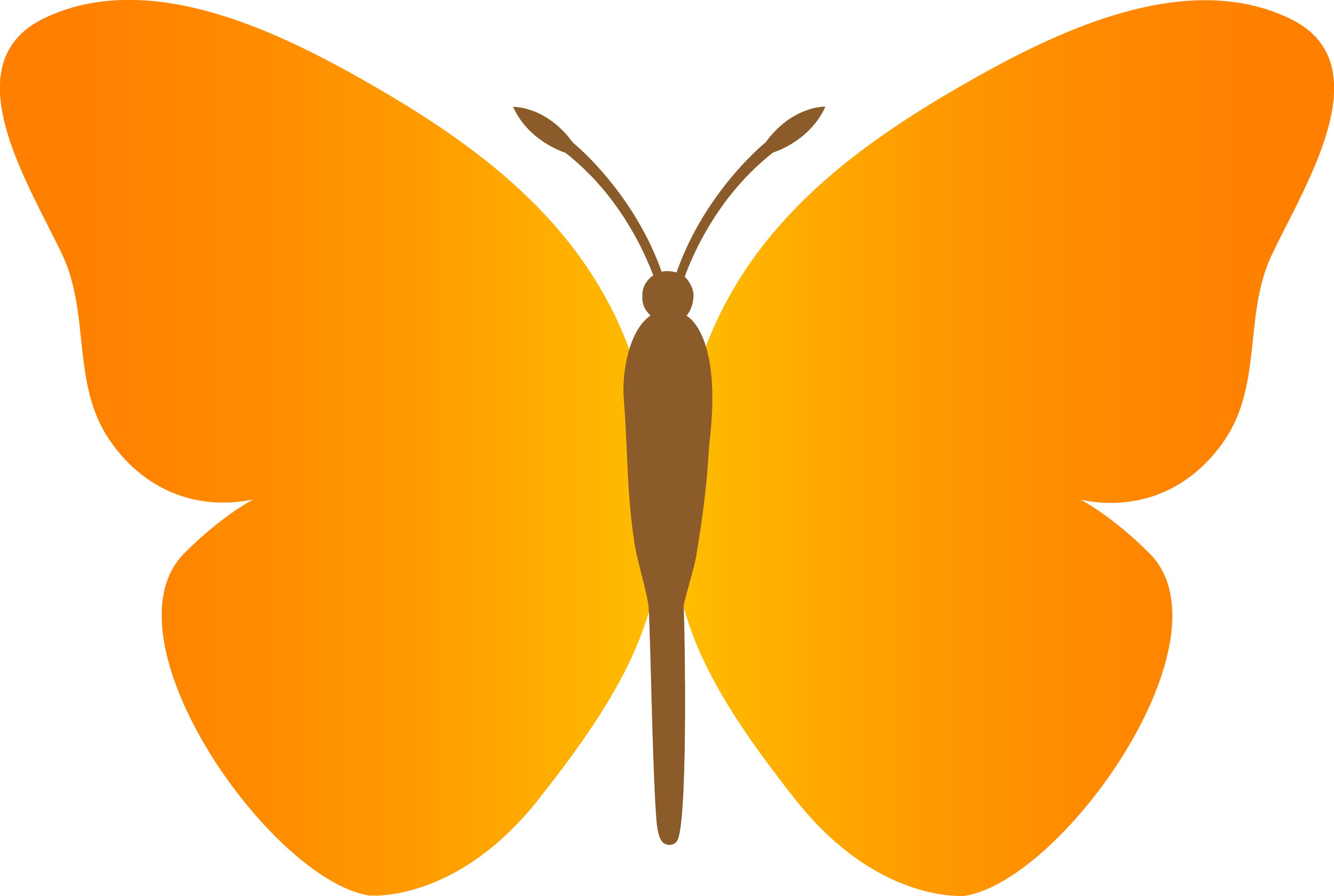 simple orange butterfly free clip art rh sweetclipart com butterfly clipart images black and white butterfly clipart free download