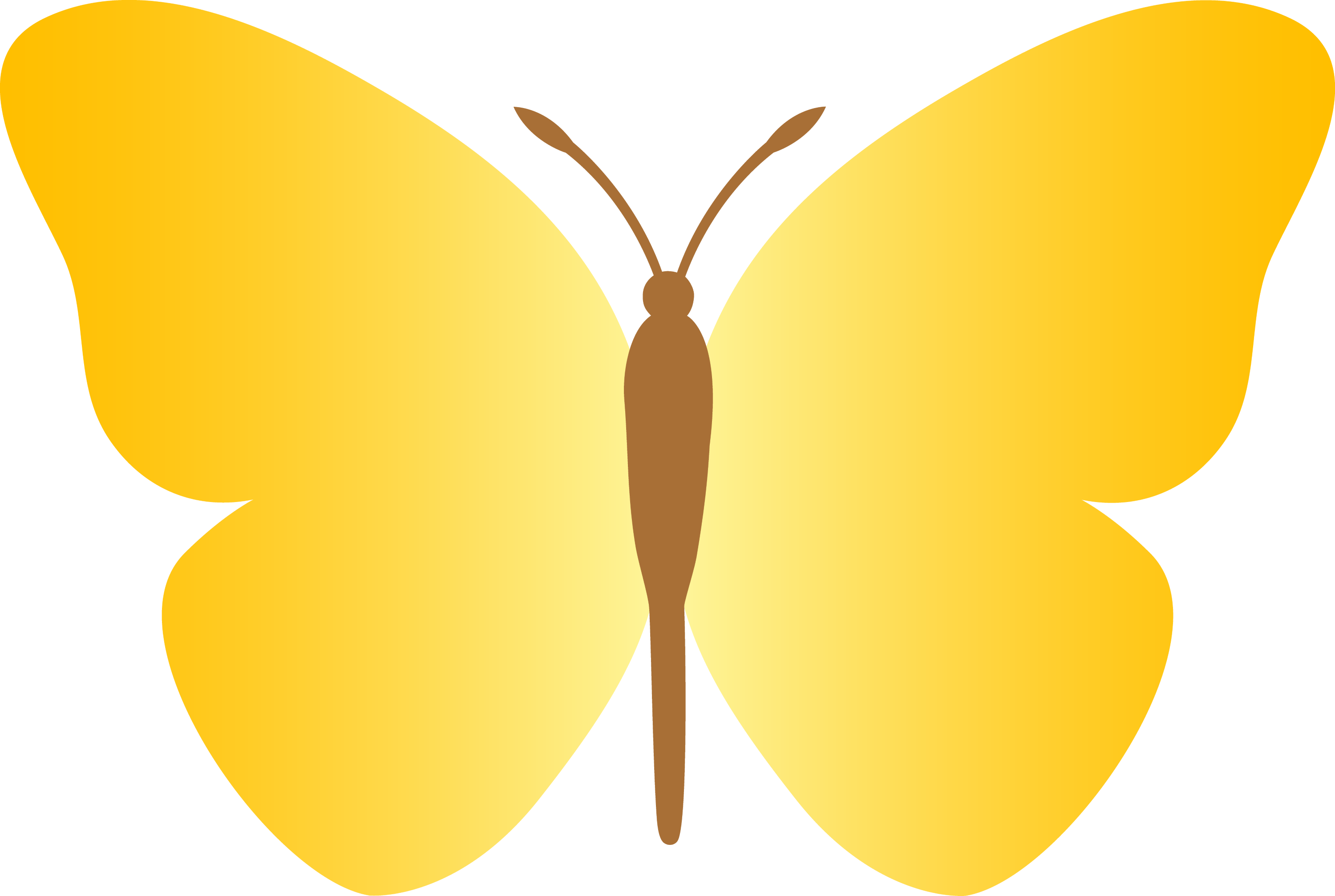 Simple Yellow Butterfly - Free Clip Art Yellow Butterfly Clipart