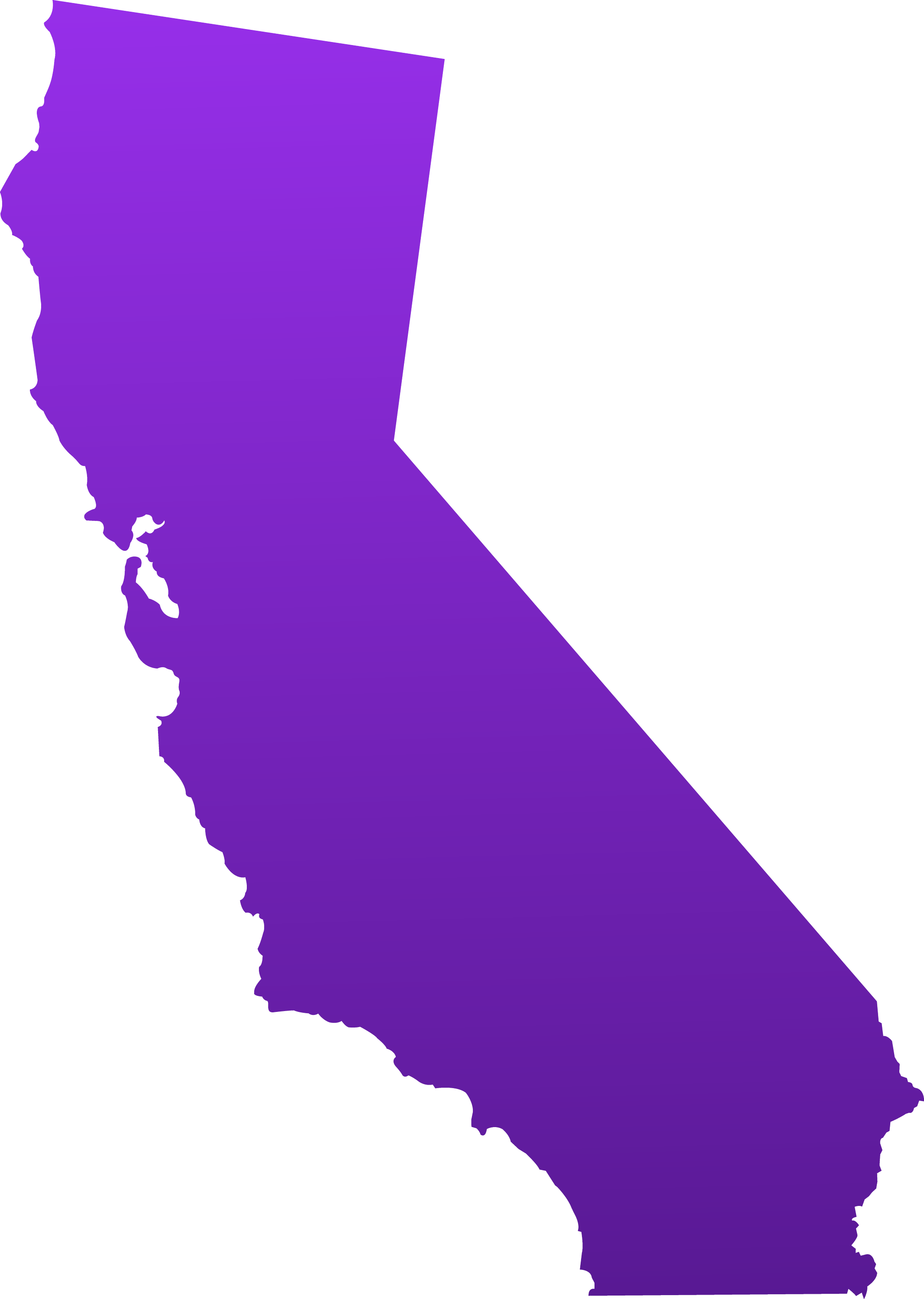clip art california map - photo #2