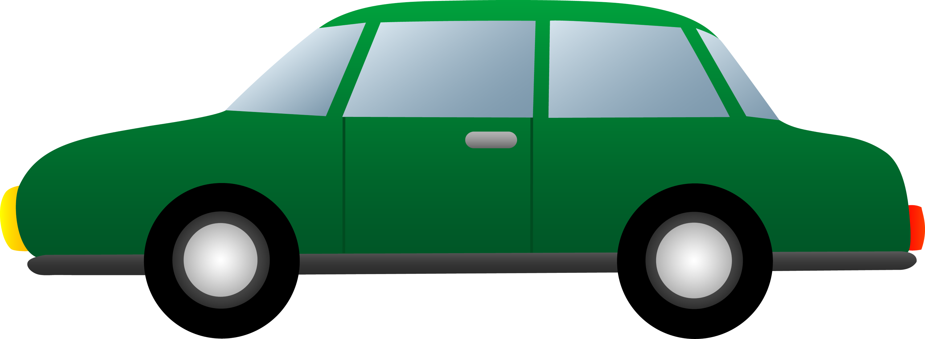 Car simple. Green free clip art