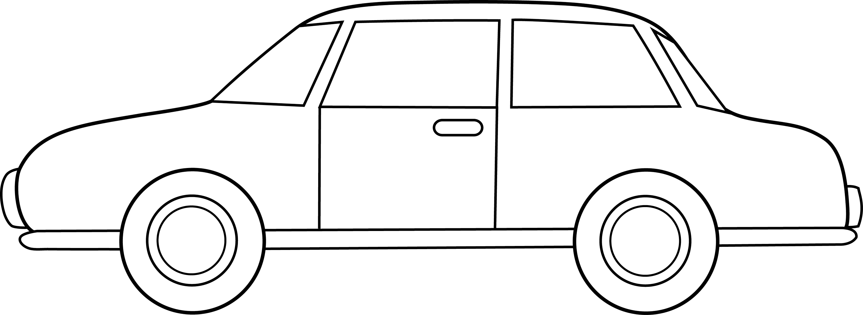 Line Drawing Car : Colorable car line art free clip