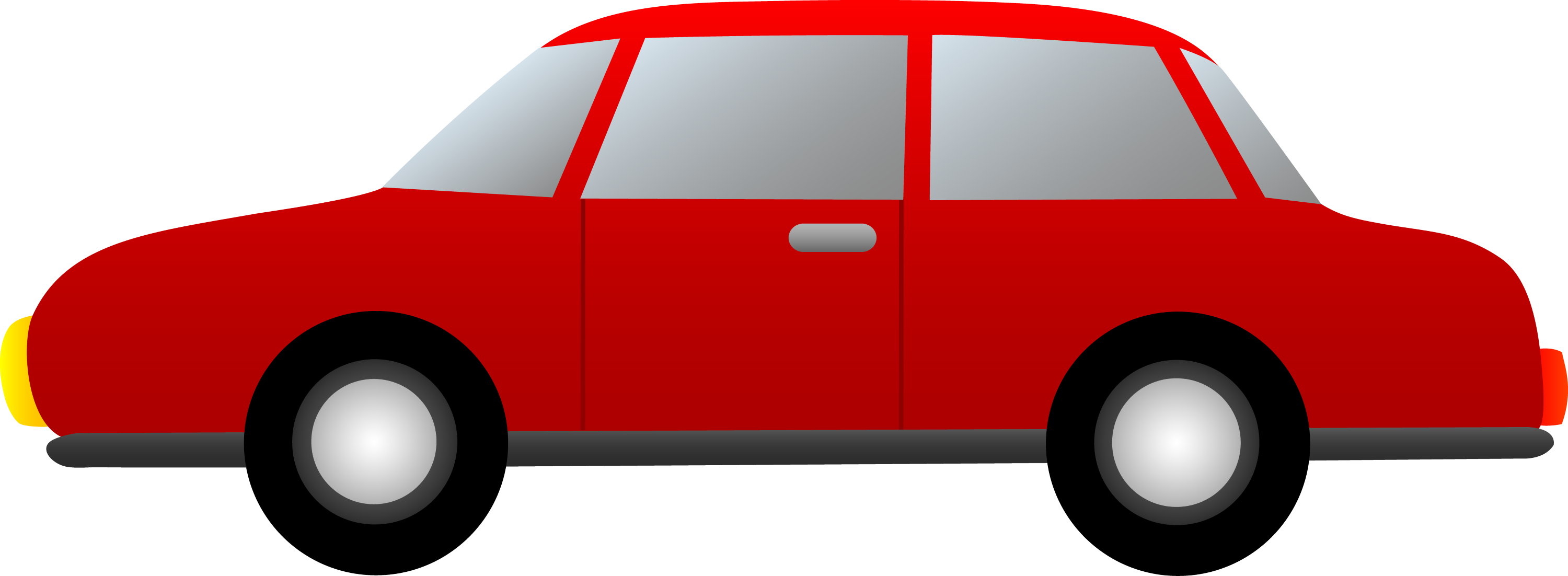 Simple Red Car - Free Clip Art