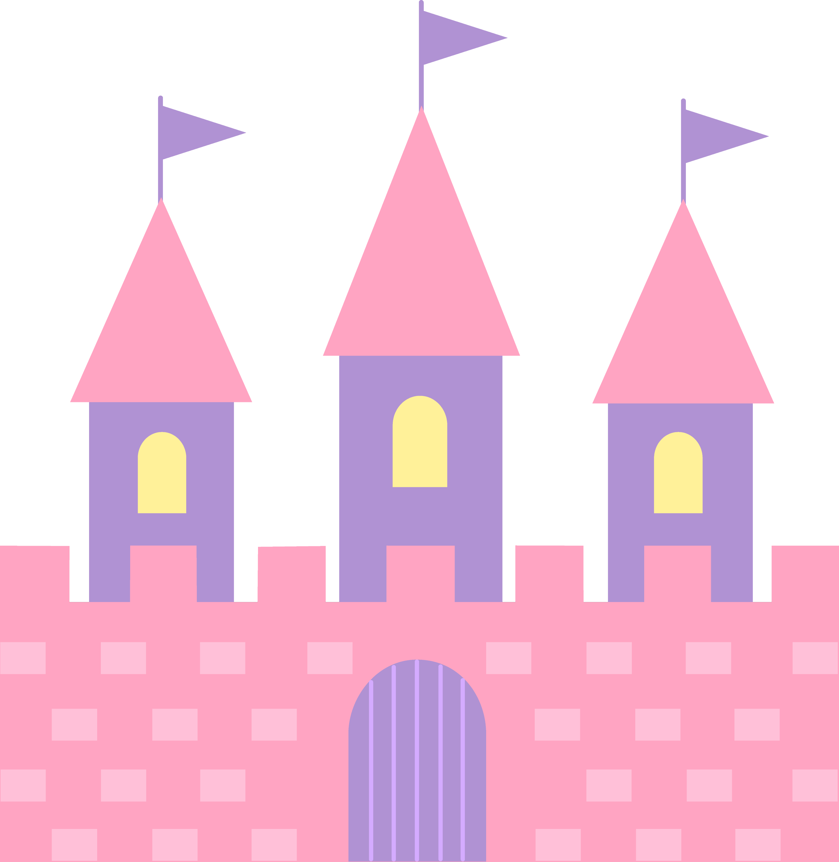 Cute pink princess castle