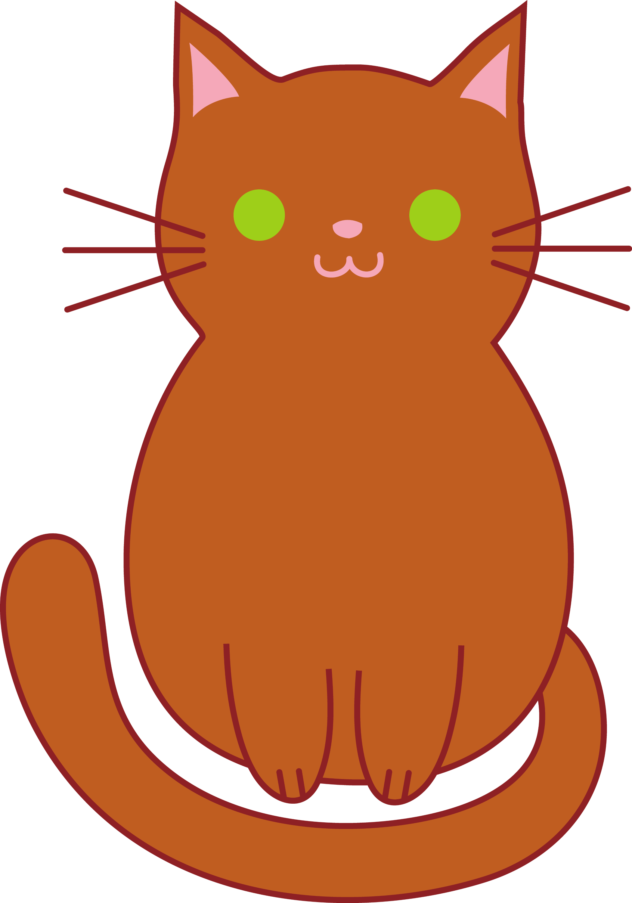 cute brown cat free clip art rh sweetclipart com Kitten Outline Cute Baby Kittens